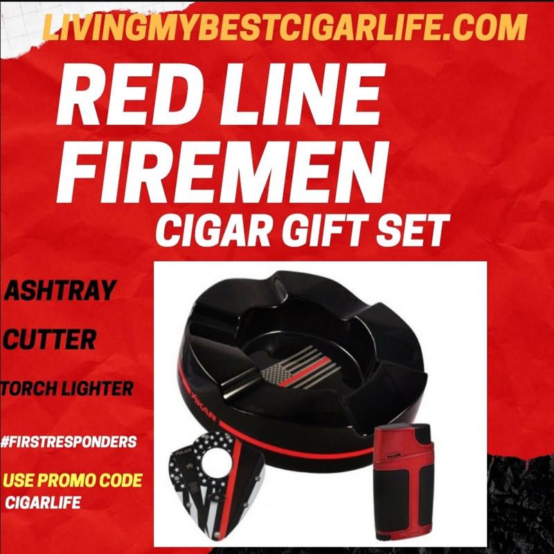 Red Line Firemen Cigar Gift Set