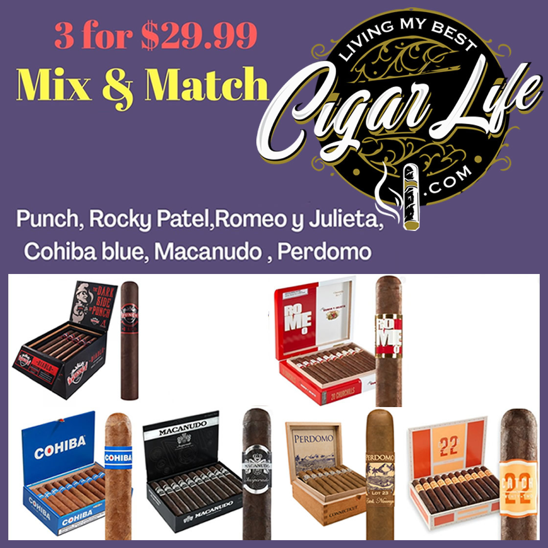 3 Cigar Special Mix and Match
