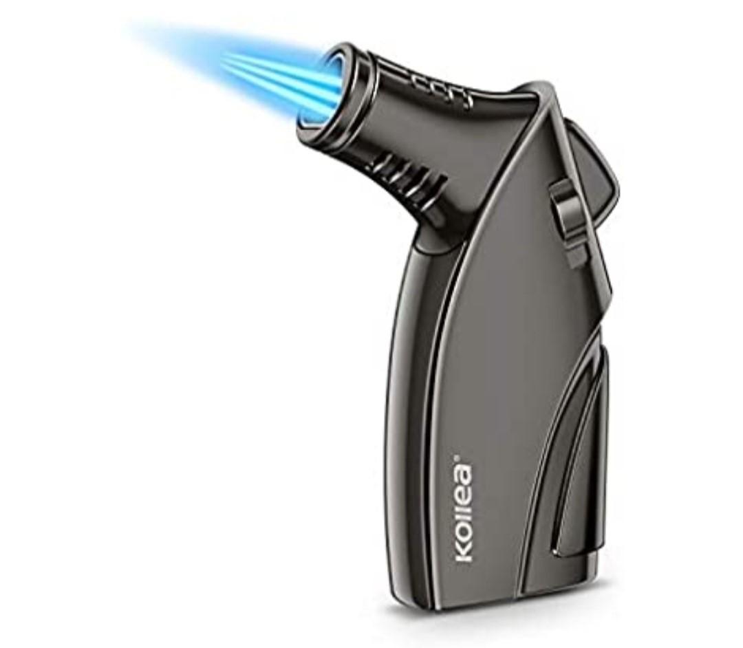 Kollea Torch Lighter, Triple Jet Flame Butane Lighter