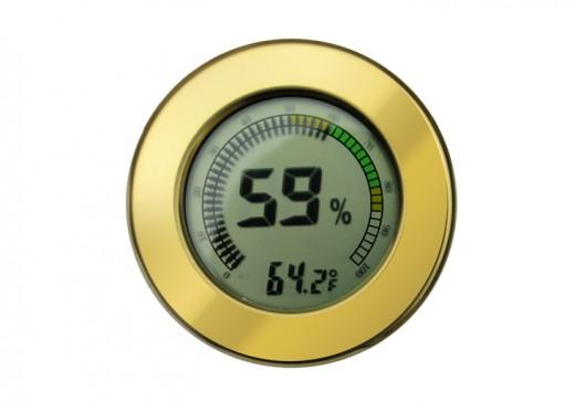 Polished Gold Digital Hygrometer