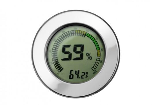 Polished Silver Digital Hygrometer