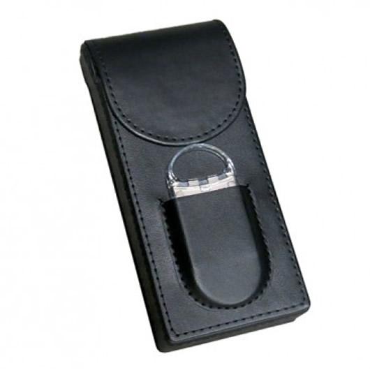 Magnetic Cigar Case - Fliptop - Black