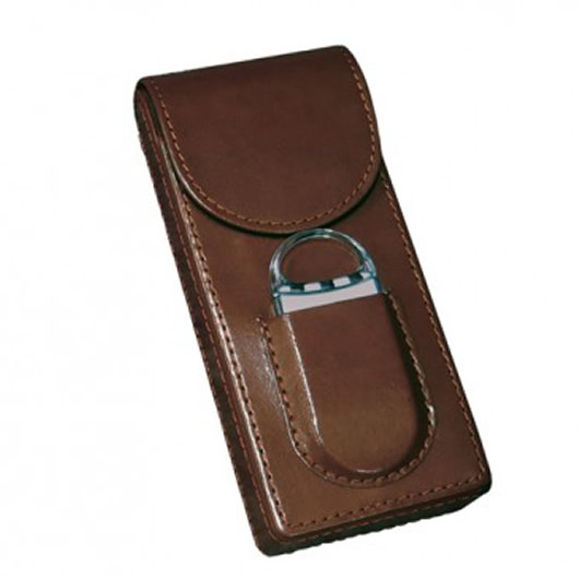Magnetic Cigar Case - Fliptop - Brown