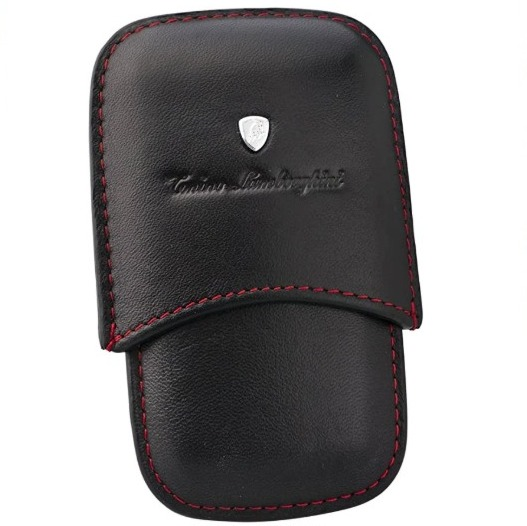 Tonino Lamborghini Leather Pouch for Lighters and Cutters