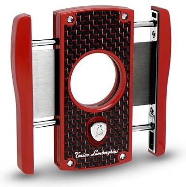 Tonino Lamborghini Aldebaran Matte Carbon Fiber Cigar Cutter, Red